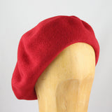 Classic Wool Beret (Red)