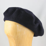 Classic Wool Beret (Navy)
