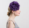 Womens Tulle Flower Fascinator (Purple)