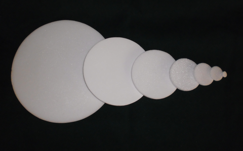Sintured Glass Discs 3mm - 100mm