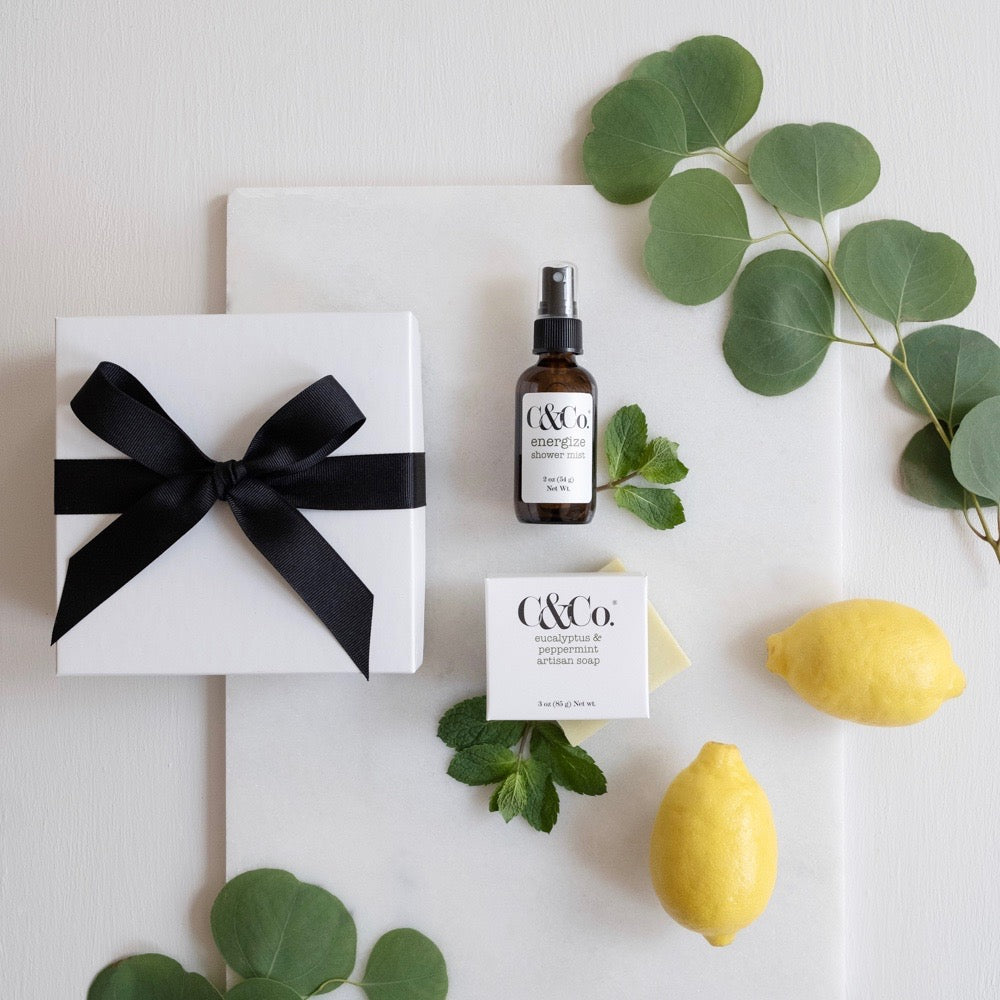 AM Shower Essentials Gift Set | C&Co.® Handcrafted Skincare