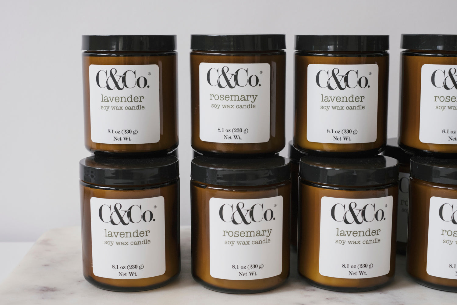Lavender Soy Wax Candle - C & Co.