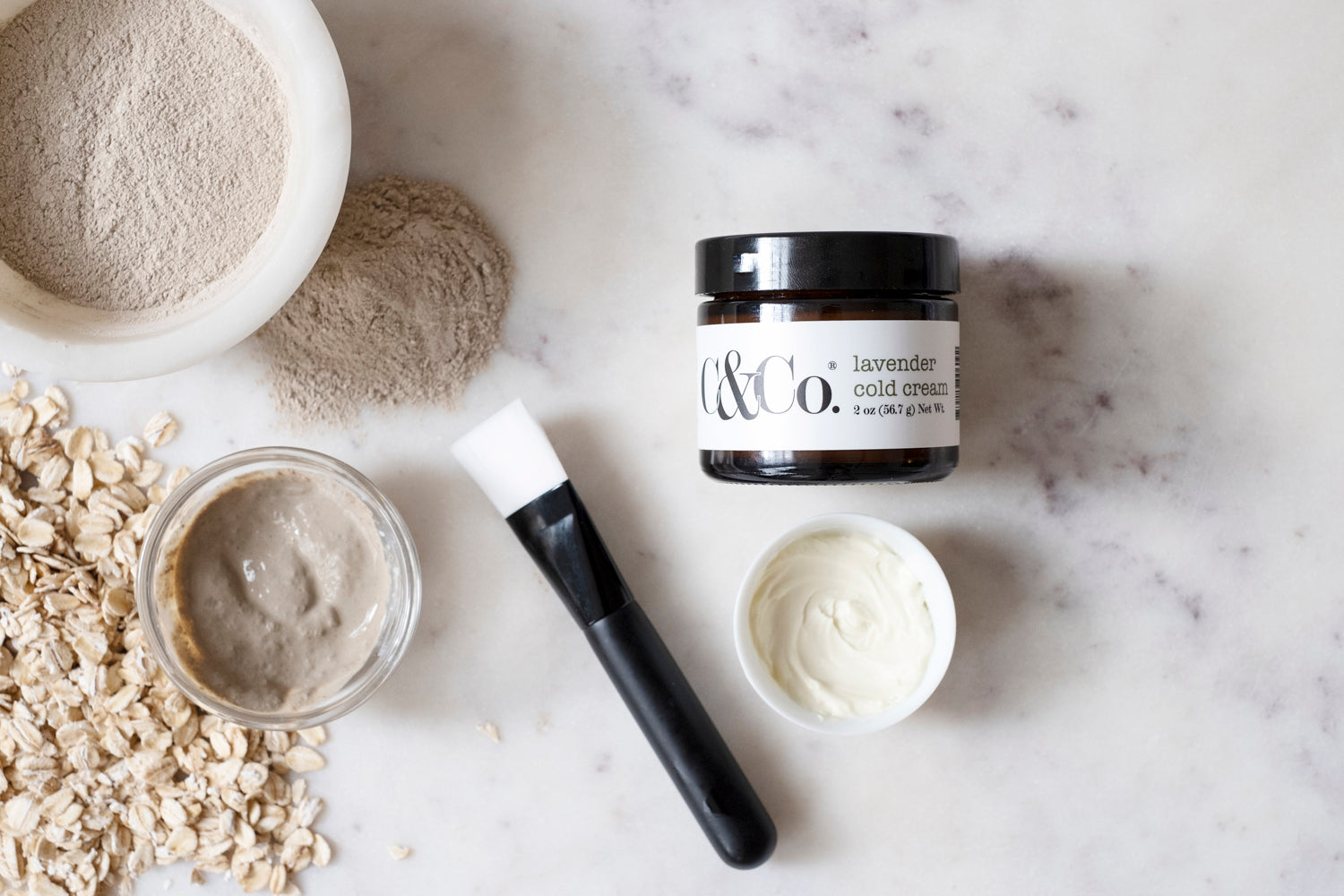 Chamomile & Oats Clay Facial Mask - C & Co.