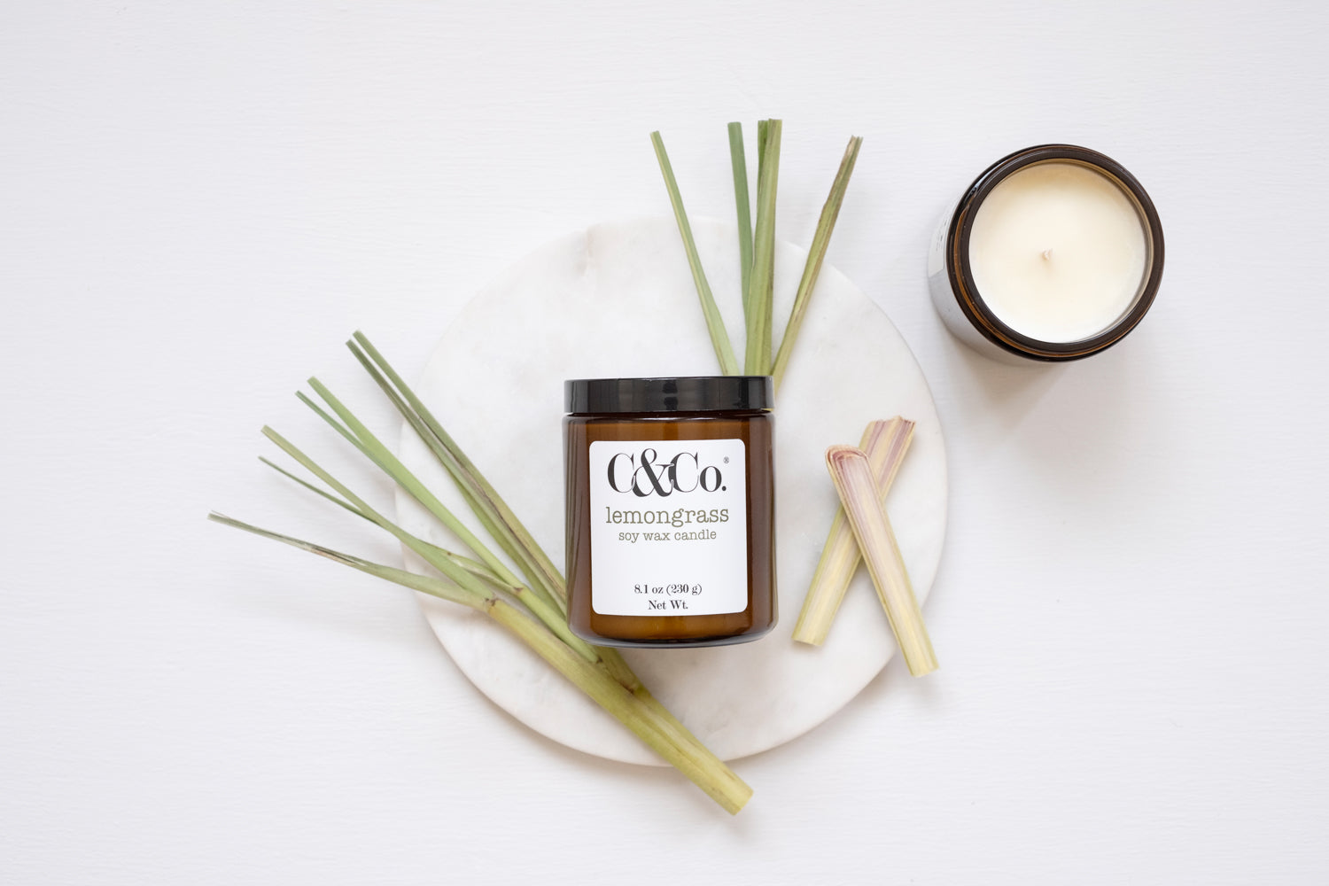 Lemongrass Soy Wax Candle - C & Co.®