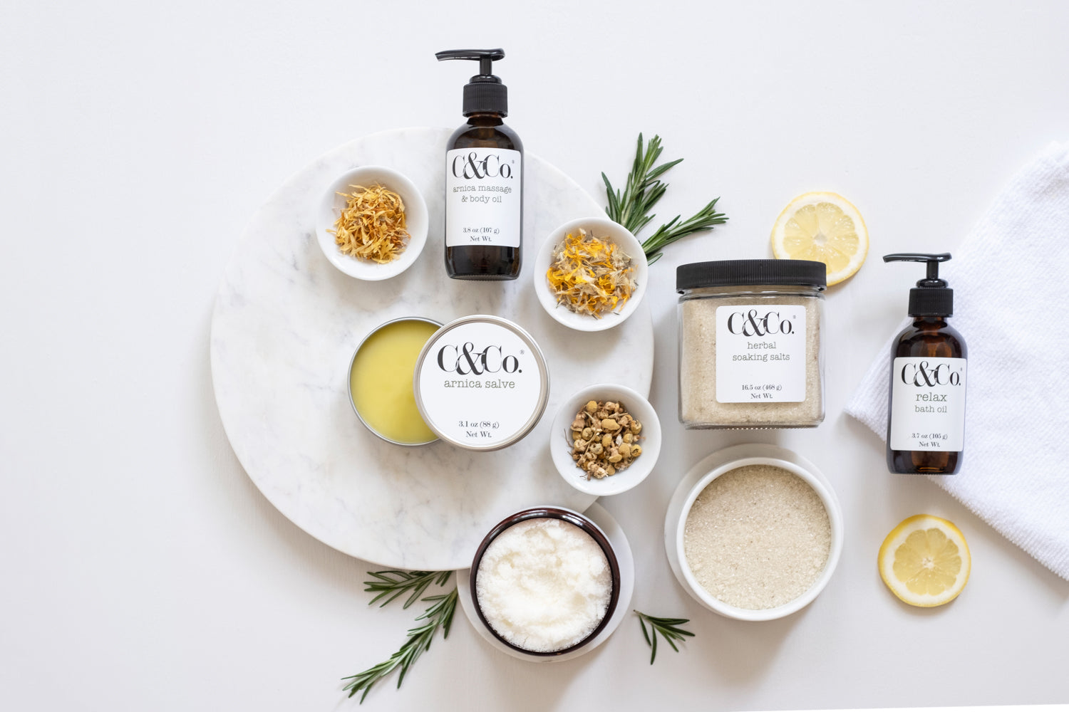 Seasonal + Citrus Foot Soak, Scrub + Massage - C & Co.®