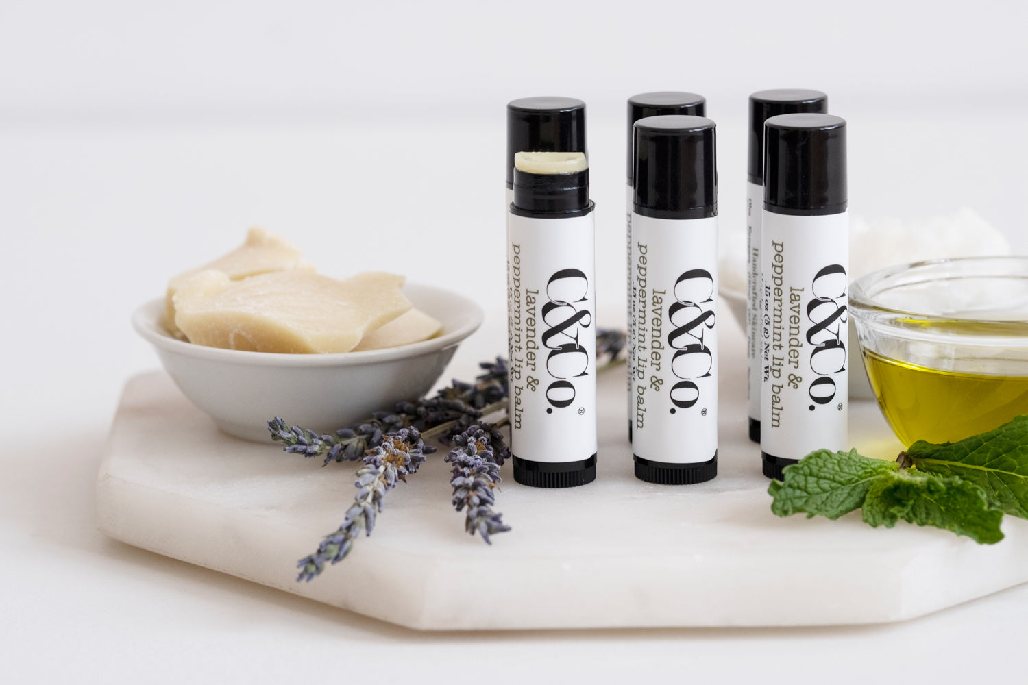 Lavender & Peppermint Lip Balm - C & Co.