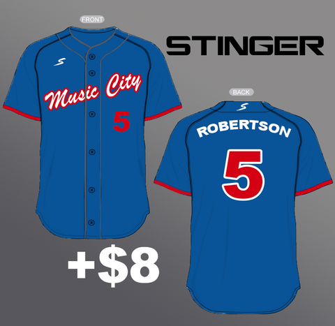 Stinger Full Button Custom Baseball Jersey