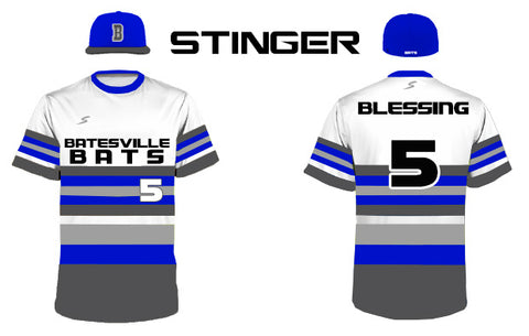 stinger long stripe baseball jersey