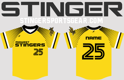 Stinger Sleeve Fade Custom Baseball Jersey