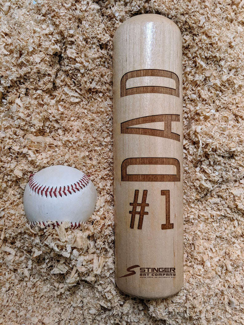 #1 DAD Wood Bat Mug