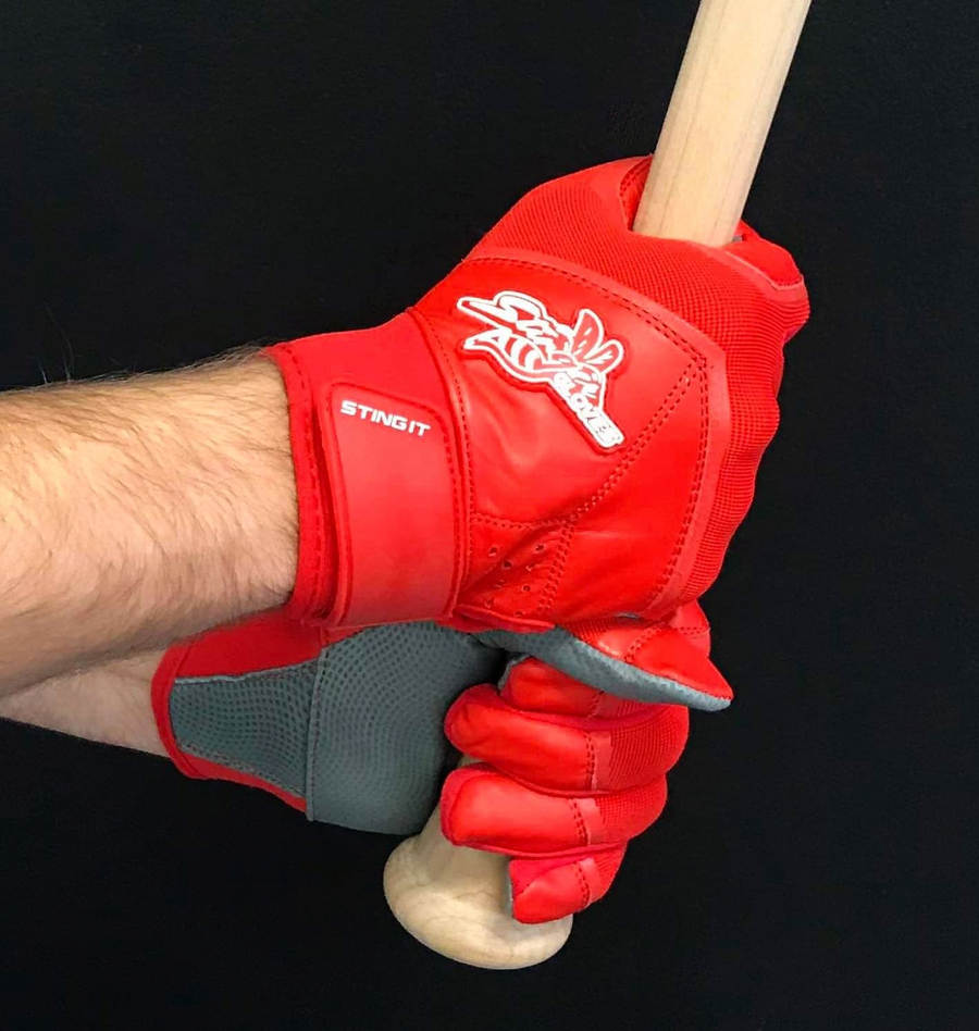 Stinger - Color Crush RED Batting Gloves