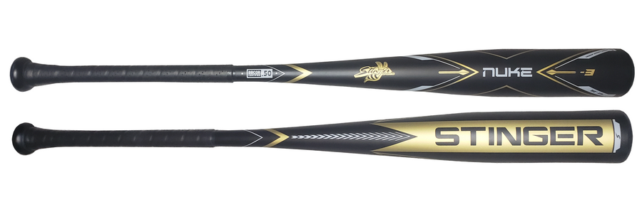 The NUKE Aluminum BBCOR Certified -3 Baseball Bat