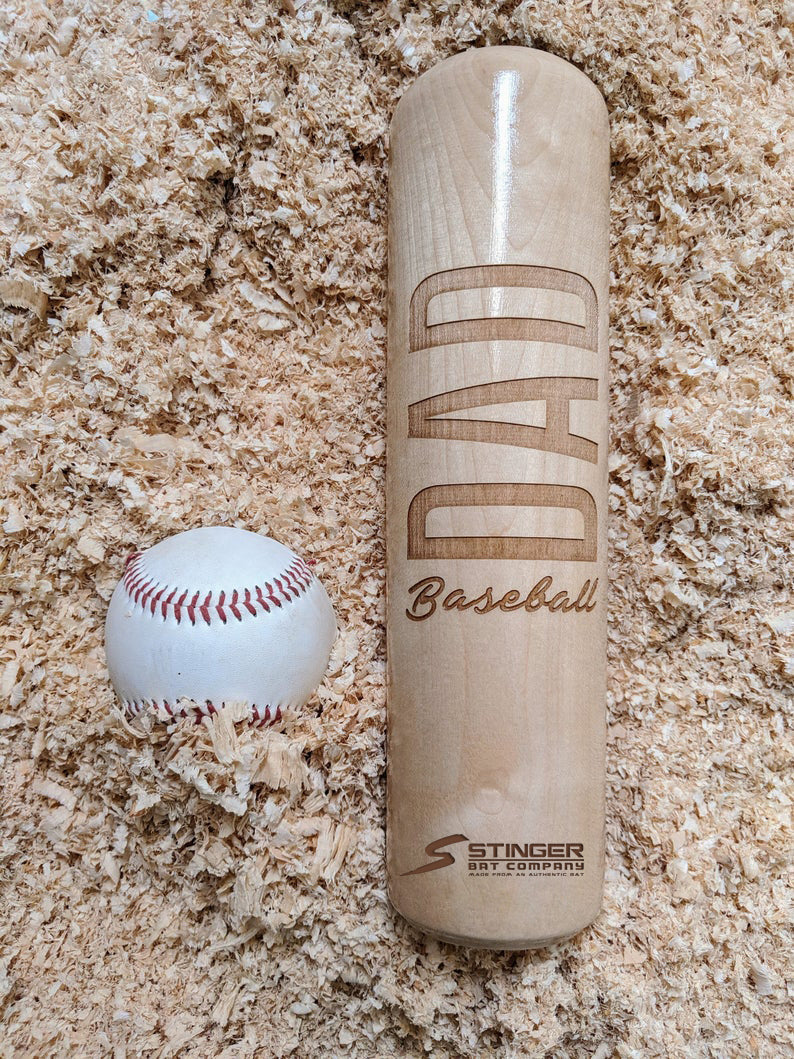 Baseball Dad Wood Bat Mug