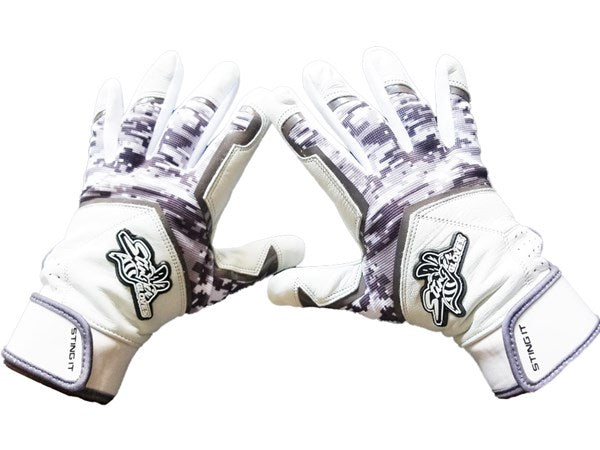 Stinger - Sting Squad Digital Camo (Graphite) Batting Gloves