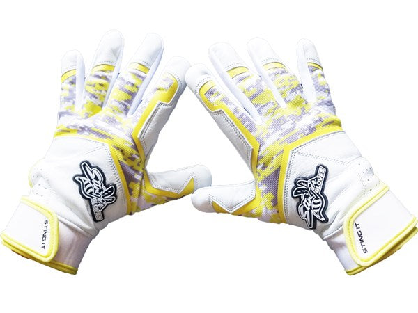 Stinger - Sting Squad Digital Camo (Yellow) Batting Gloves