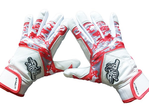 Stinger - Sting Squad Digital Camo (Red) Batting Gloves