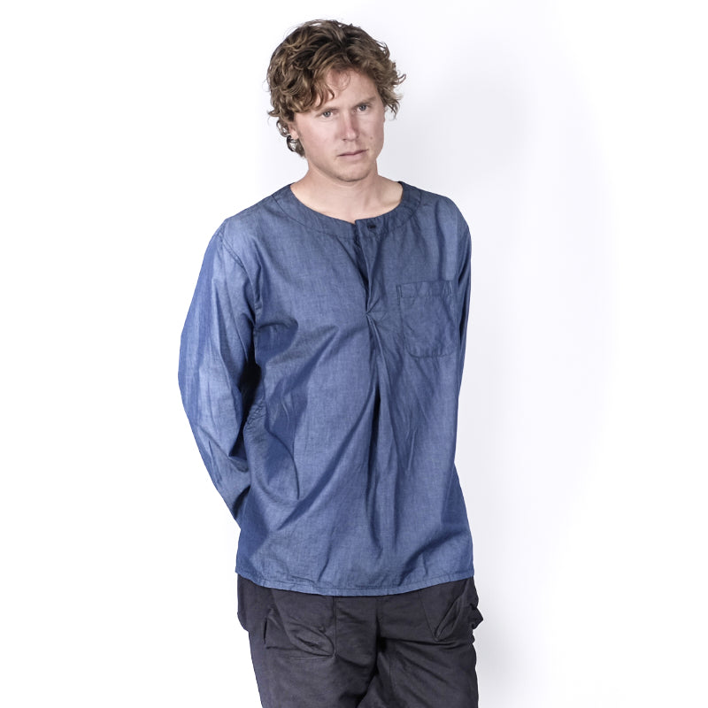 Engineered Garments: Med Shirt Navy Lt. Weight Denim (navy)