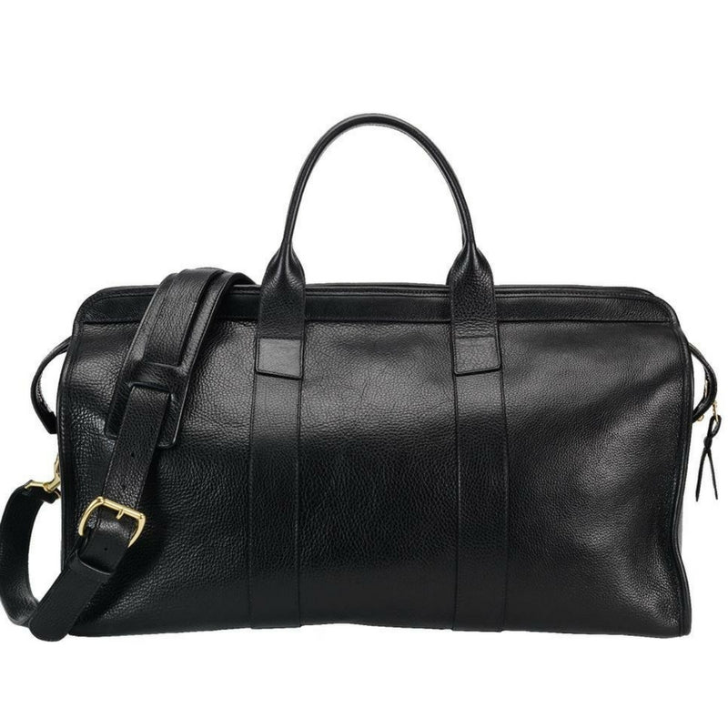 Leather Duffle Travel Bag (black)