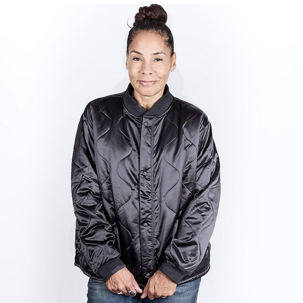 6397: Quilted Bomber (black)