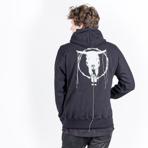 "Beautiful Ful: BF Centerseam Hoodie ""Bonehead"" (black)"