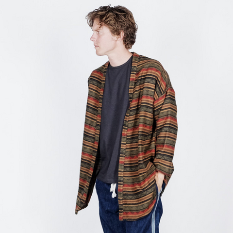 Prospective Flow: Wool Haori (indian stripe)