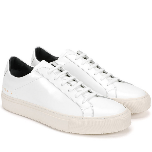 Common Projects: Premium Lo (white/navy patent)