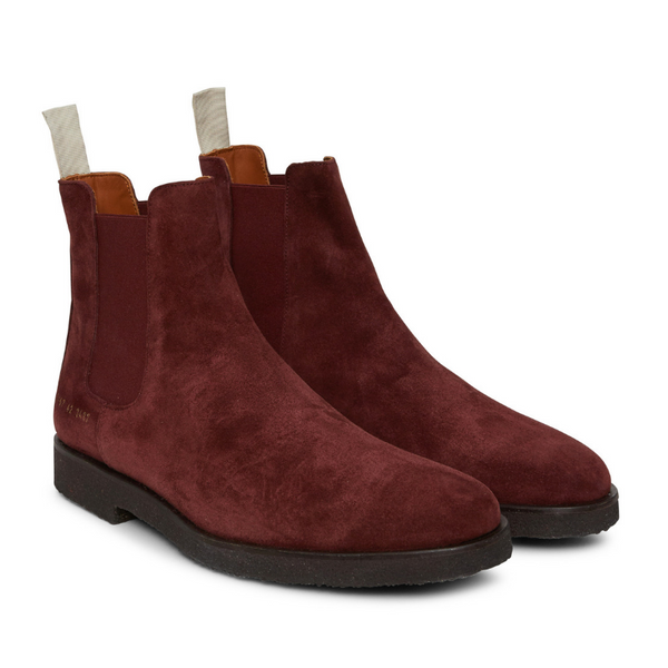 Woman by Common Projects: Chelsea in Suede (burgundy)