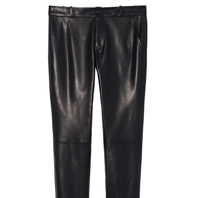 Nili Lotan: Leather East Hampton Pant (black)