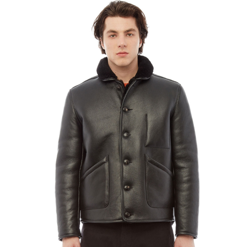 you Jacket Shearling Brainticket Ymc Leather Create Must black UnWqOO7d