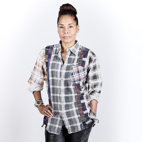 Needles (woman): Flannel Shirt & 7 Cuts Gather (multi)