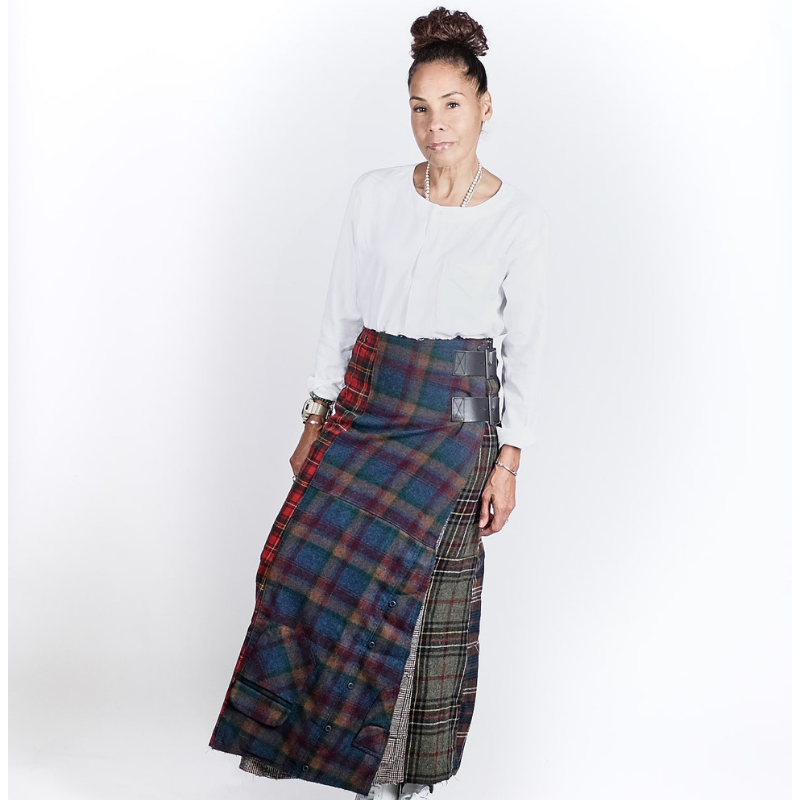 Needles (woman): Pendleten Shirt Wrap Skirt (multi)