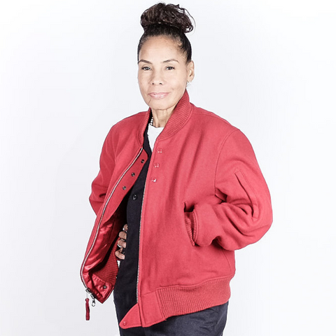 FWK by ENGINEERED GARMENTS: Aviator Jacket Wool (red)