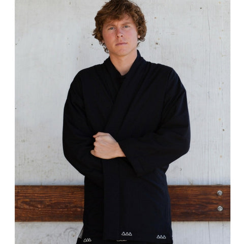 Visvim: Dotera Coat Wool Stripe (black)