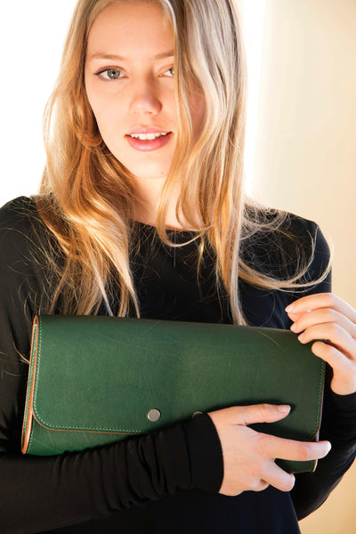 Ben Hogestyn: Leather Clutch (green)