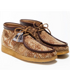 Clarks: Todd Snyder x Clarks . Textile Wallabee Boot (brown/gold)