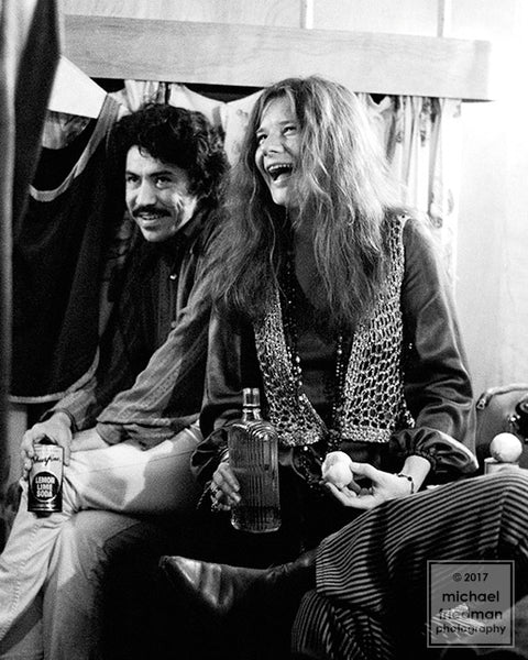 Janis Joplin & Luis Gasca Backstage 1969 (1of5)