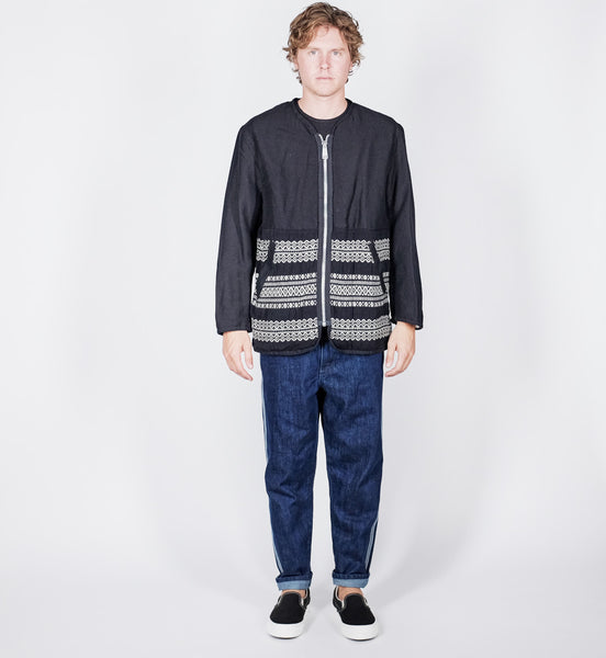 Sage De Cret: Jacket (navy/white)
