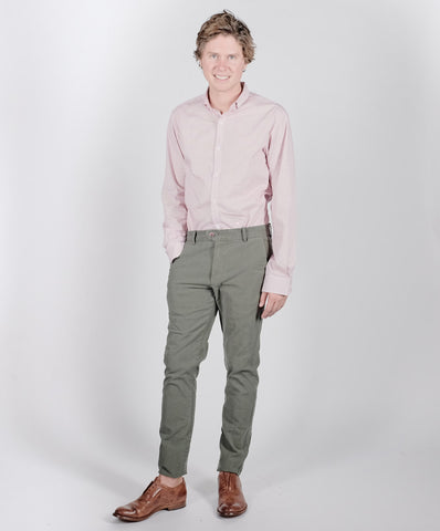 "Canvas . Malibu: ""Malibu Trouser"" (washed olive)"