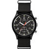 Timex:  MK1 Aluminum Chronograph 40mm Fabric Strap Watch (black)