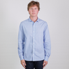 Canvas . Malibu: Micro Wide Collar Shirt (bankers stripe)