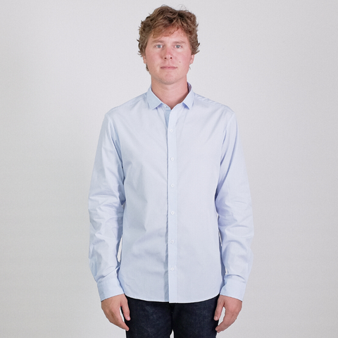 Canvas . Malibu: Micro Wide Collar Shirt (powder blue)