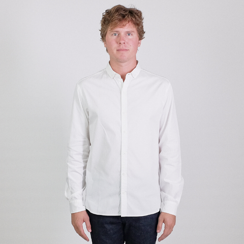 Canvas . Malibu: Micro Wide Collar Shirt (white)
