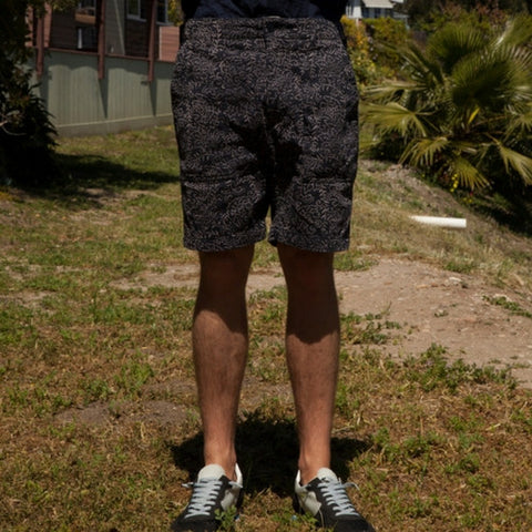 Engineered Garments: Fatigue Short (Navy Paisley Twill)
