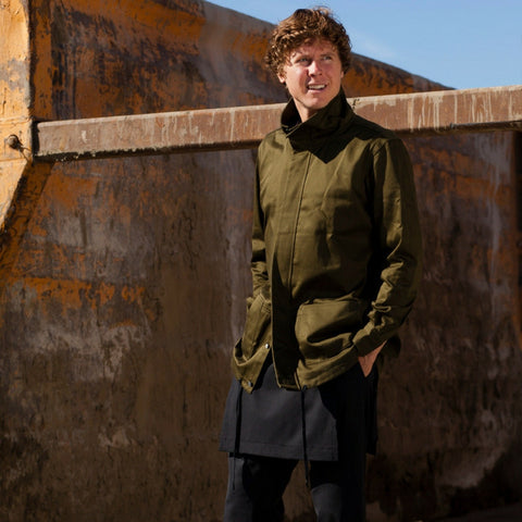Public School: Rown Drawcord Shirt Jacket (army green)