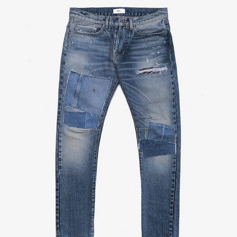 BTFL: Repaired Slim Jeans (indigo)