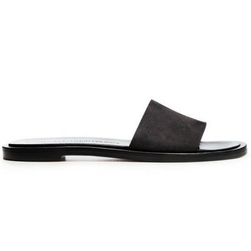 Woman by Common Projects: Suede Slide (faded black)