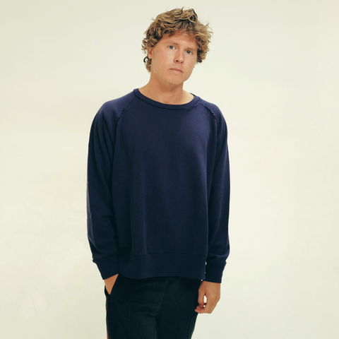 Needles: Hand Stitched Sweatshirt (navy)