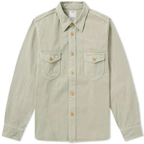 Visvim: PVT Shirt (light green) Herringbone