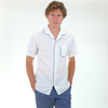 Officine Generale: Dario Piping Shirt Japanese Seam (white)
