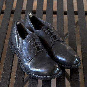 "Officine Creative: Leather Lace-up Shoes  ""Serrano"" (magnete/grey-black)"